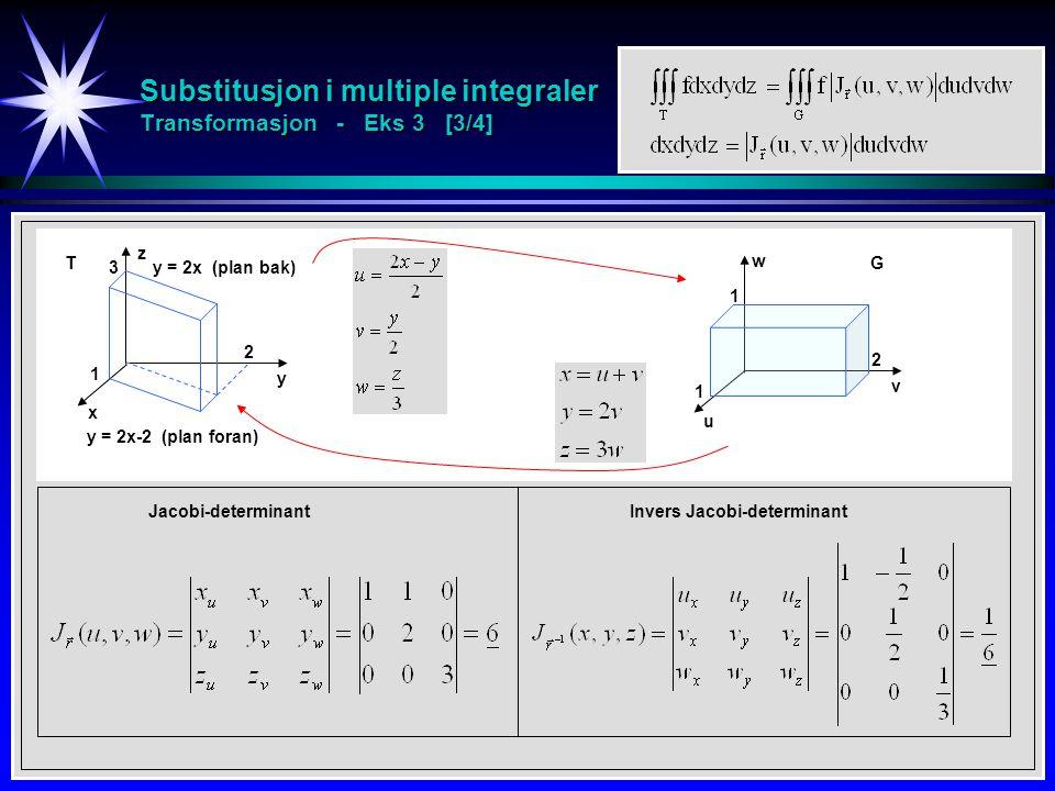 Substitusjon i multiple integraler Transformasjon - Eks 3 [3/4]